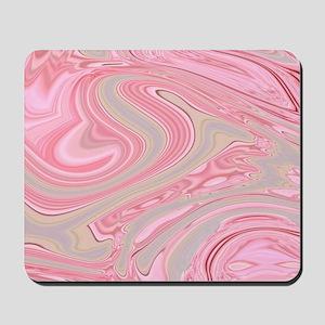 cute pink marble swirls Mousepad
