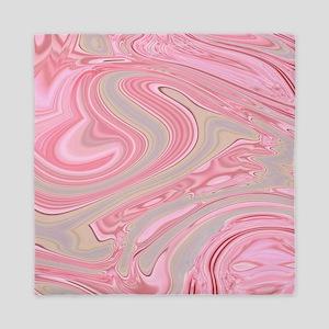 cute pink marble swirls Queen Duvet