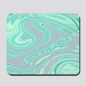 grey mint swirls Mousepad