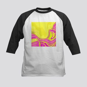 neon fuchsia yellow swirls Baseball Jersey