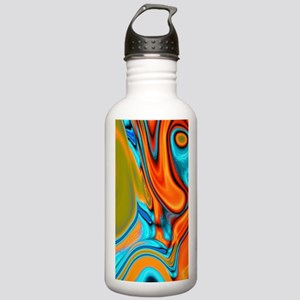 turquoise orange swirl Stainless Water Bottle 1.0L