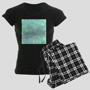 cute grey mint swirls Women's Dark Pajamas