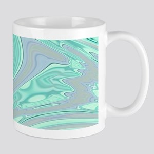 cute grey mint swirls Mugs