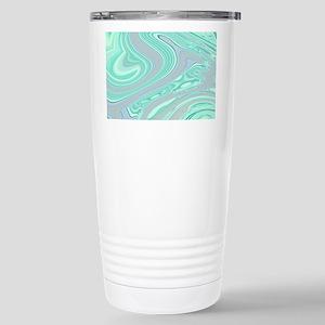 cute grey mint swirls Stainless Steel Travel Mug
