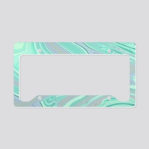 cute grey mint swirls License Plate Holder