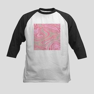 cute pink marble swirls Baseball Jersey