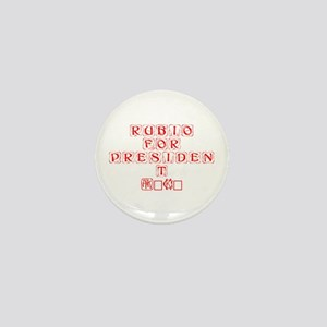 Rubio for President 2016-Kon red 460 Mini Button