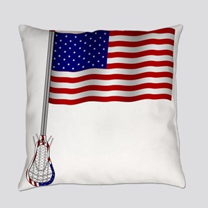 American Lacrosse Flag Everyday Pillow