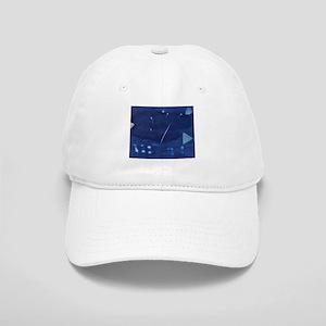 Guitar Musician Cyanotype Baseball Cap