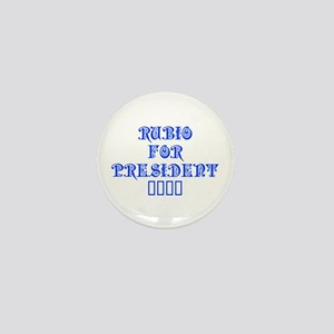 Rubio for President 2016-Pre blue 550 Mini Button