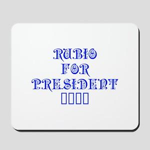 Rubio for President 2016-Pre blue 550 Mousepad