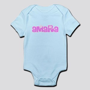 Amara Flower Design Body Suit