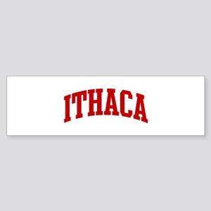 ITHACA (red) Bumper Sticker