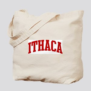 ITHACA (red) Tote Bag