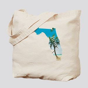 Florida Home Palm Tree Beach Tote Bag