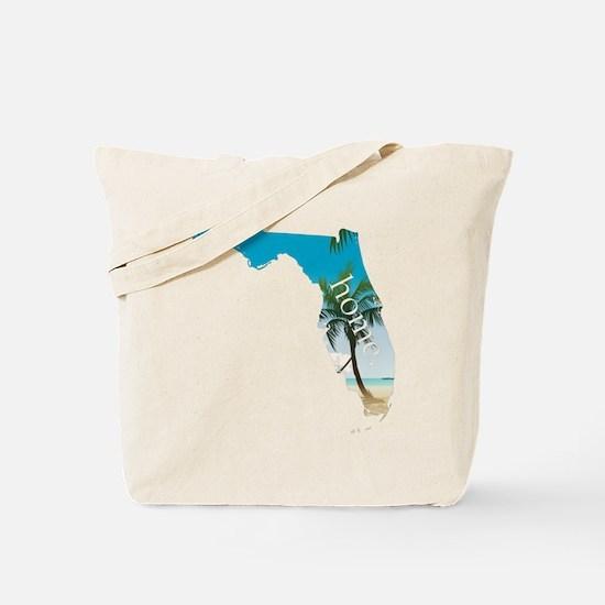 Florida Home Palm Tree Beach Tote Bag