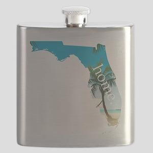 Florida Home Palm Tree Beach Flask