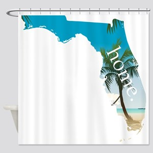 Florida Home Palm Tree Beach Shower Curtain