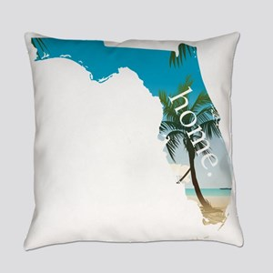Florida Home Palm Tree Beach Everyday Pillow