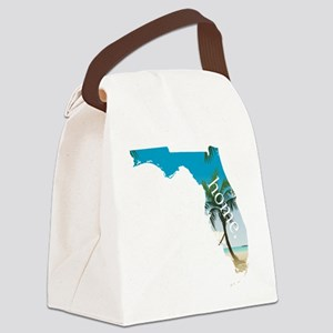 Florida Home Palm Tree Beach Canvas Lunch Bag