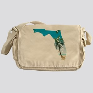 Florida Home Palm Tree Beach Messenger Bag