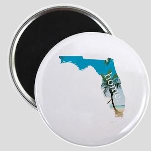 Florida Home Palm Tree Beach Magnet