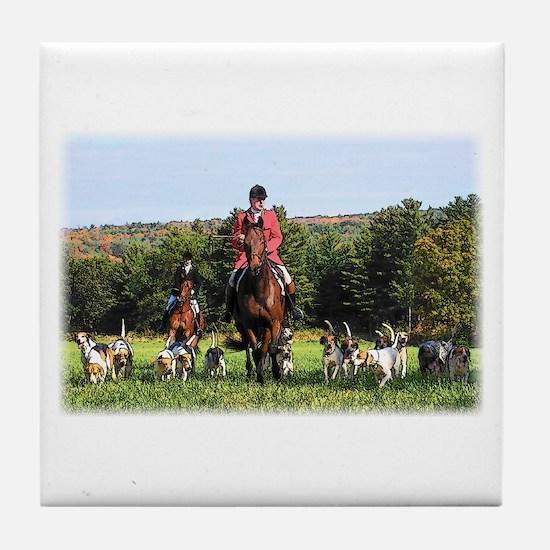 Fox Hunt -- Tile Coaster