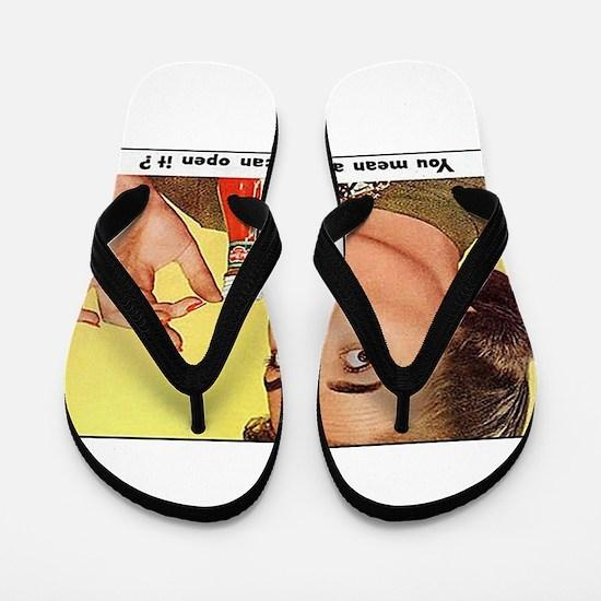 Vintage Poster Advertising woman Ketchu Flip Flops