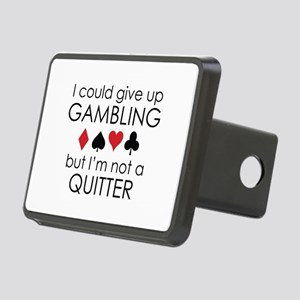 I Could Give Up Gambling Rectangular Hitch Cover