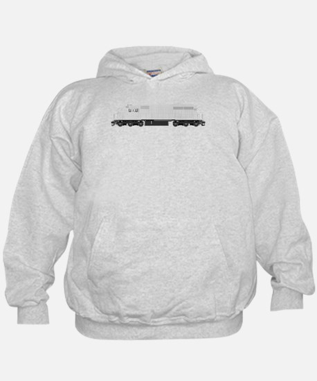 White train drawing Hoodie