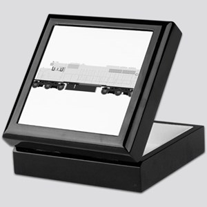 White train drawing Keepsake Box
