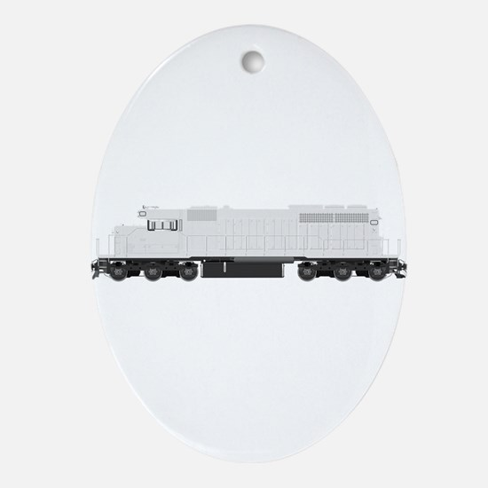 White train drawing Ornament (Oval)