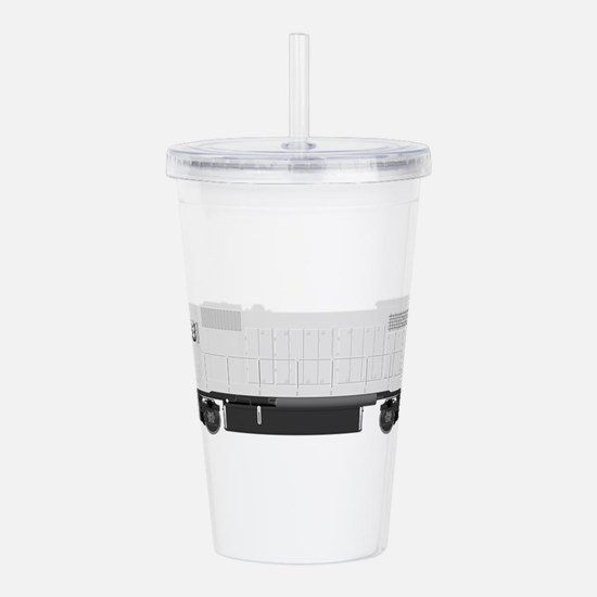 White train drawing Acrylic Double-wall Tumbler