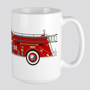 Vintage red fire truck drawing Mugs