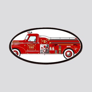 Vintage red fire truck drawing Patch