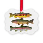3 Western Trout Ornament