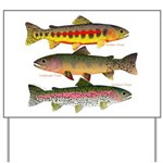 3 Western Trout Yard Sign