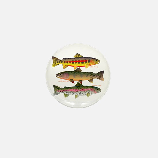 3 Western Trout Mini Button