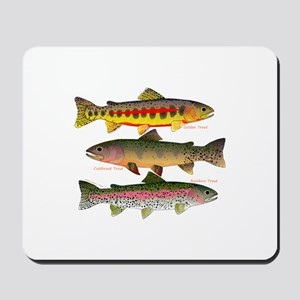 3 Western Trout Mousepad