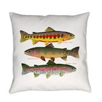 3 Western Trout Everyday Pillow