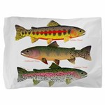 3 Western Trout Pillow Sham