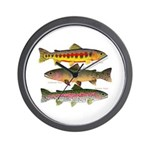 3 Western Trout Wall Clock