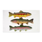 3 Western Trout Area Rug