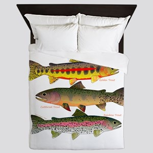 3 Western Trout Queen Duvet