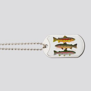3 Western Trout Dog Tags