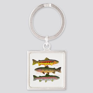 3 Western Trout Keychains