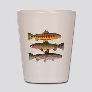 3 Western Trout Shot Glass