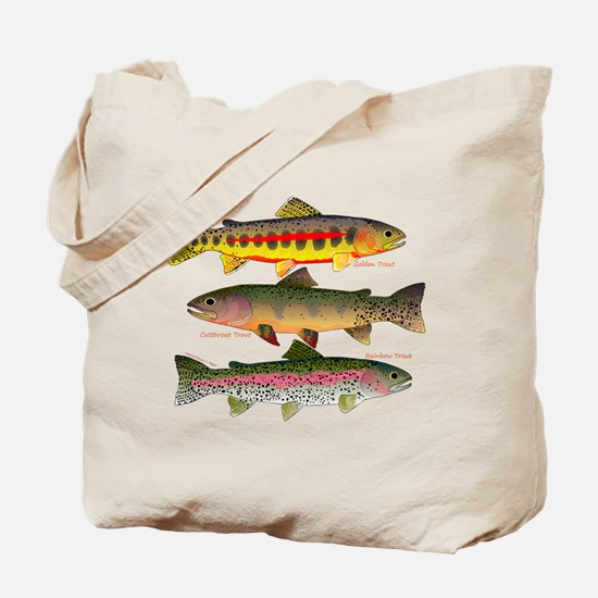 3 Western Trout Tote Bag