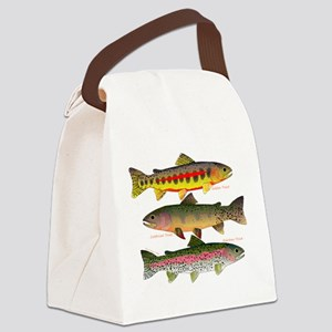 3 Western Trout Canvas Lunch Bag