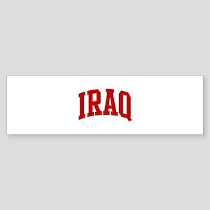 IRAQ (red) Bumper Sticker